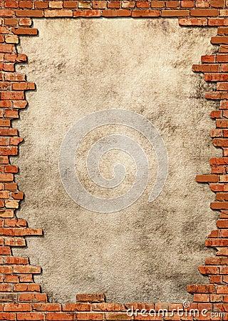 Free Brick Wall Grungy Frame Stock Photos - 1073523