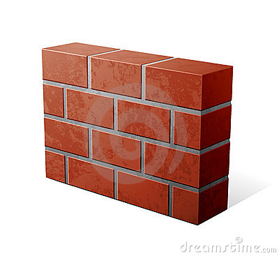 Free Brick Wall Icon Royalty Free Stock Photos - 19499248
