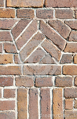 Old brick wall design closeup