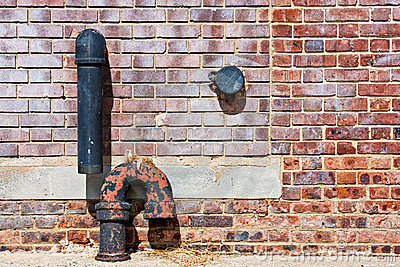Brick Wall and Pipes