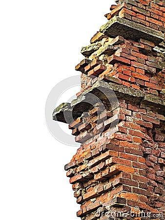 Brick wall remains