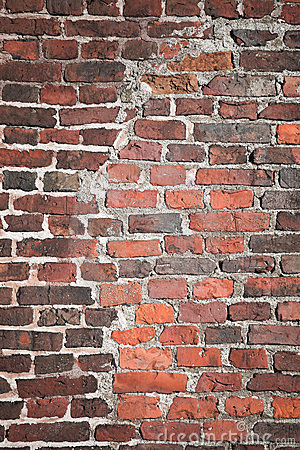 Brick wall texture with reconstruction segment
