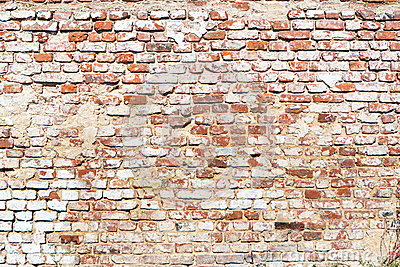 Brick wall with vintage look