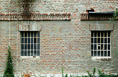 Brick wall with windows