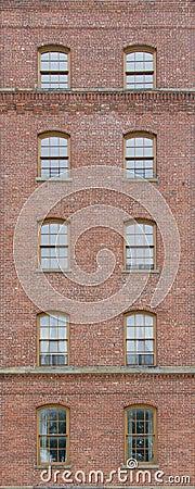 Free Brick Wall With Arch Windows Stock Photos - 74161313
