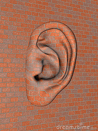 Free Brick Wall With Big Ear Stock Photo - 17505790