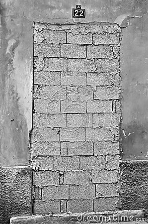 Free Bricked Up Door Royalty Free Stock Photo - 15897825