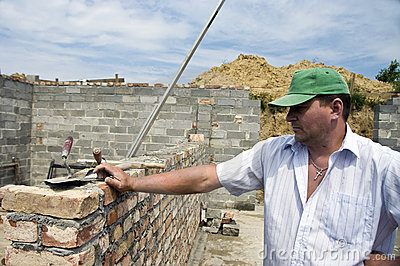 Bricklayer portrait