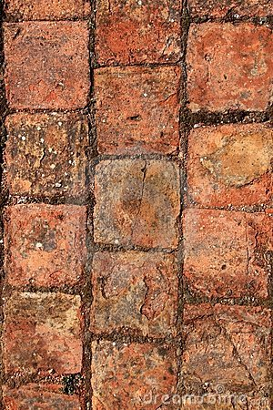 Bricks clay soil pavement traditional Spain