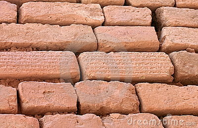 Bricks with cuneiform writing, Shush, Iran