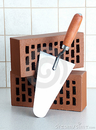 Free Bricks & Trowel Royalty Free Stock Images - 474369