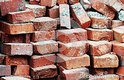 Bricks waiting to be used ...