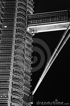 Bridżowy Petronas nieba wierza bliźniak