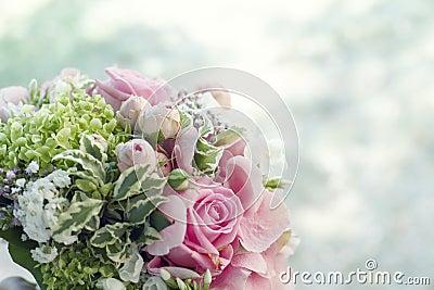 Bridal bouquet with copyspace