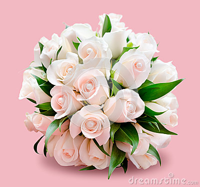 Free Bridal Bouquet, Pink Background Royalty Free Stock Images - 38944079