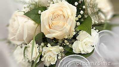 bridal bouquet with roses.