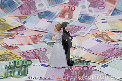 Bridal Couple and Money