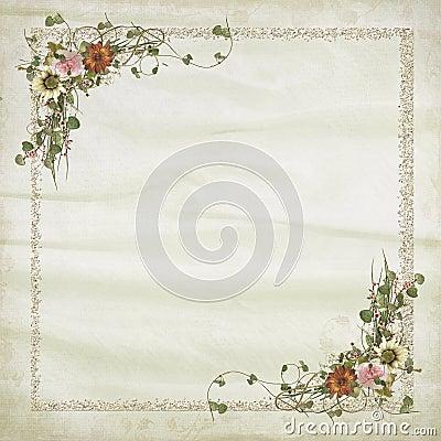 Bridal Floral Frame