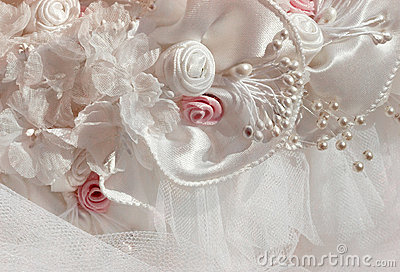 Bridal headdress detail