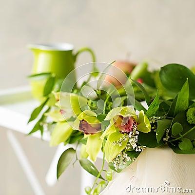 Bridal orchid wreath