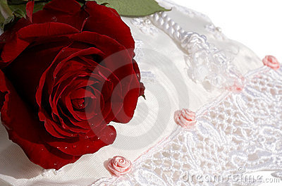 Bridal purse with rose