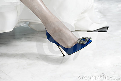 Bridal Shoes on Bride
