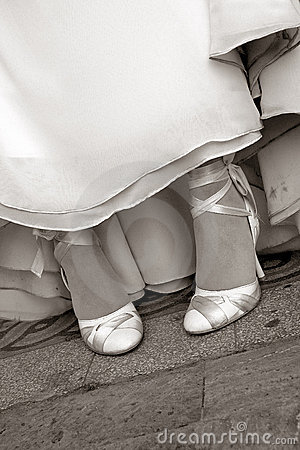 Bridal shoes sepia