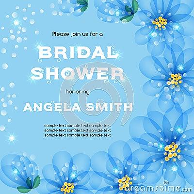 Free Bridal Shower Invitation Royalty Free Stock Photography - 73341597