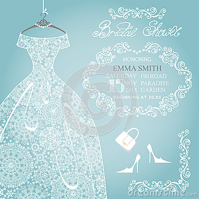 Free Bridal Shower Invitation.Wedding Snowflake Lace Royalty Free Stock Photography - 47354807