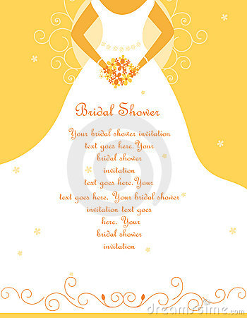 Free Bridal Shower / Wedding Invitation Royalty Free Stock Photos - 10633588