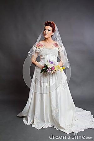 Bridal studio photography
