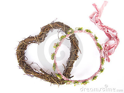 Bridal wreath and heart