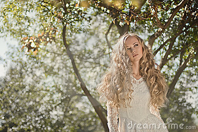 Bride with amazing hair