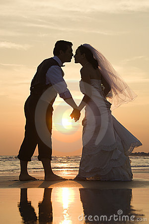 Free Bride And Groom Kissing Royalty Free Stock Image - 2046176