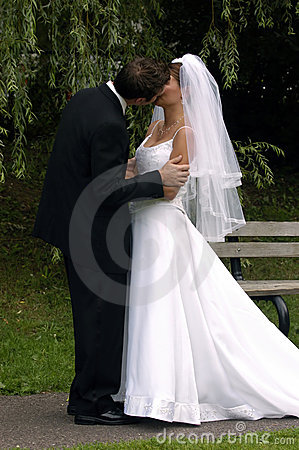 Free Bride And Groom Kissing Royalty Free Stock Photography - 50947