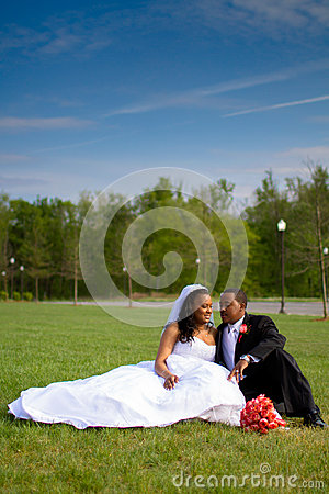 Free Bride And Groom On Wedding Day Stock Photography - 44025852