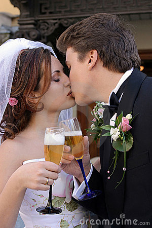 Free Bride And Groom Toasting Stock Images - 4291254