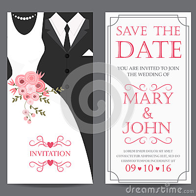 Free Bride And Groom,wedding Invitation Card Royalty Free Stock Images - 65701969