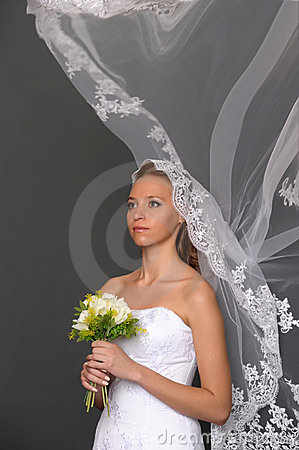 The bride with a bouquet