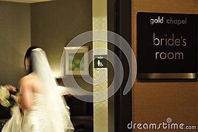 Bride in the Bride s Preparation Room