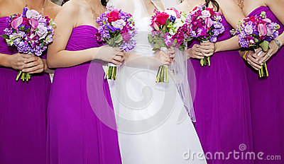 Bride and Bridemaids