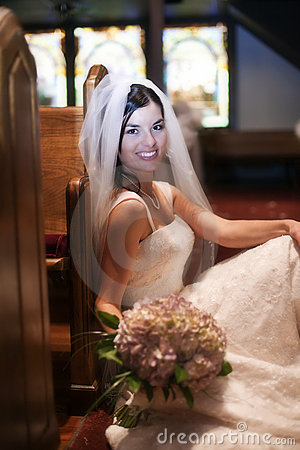 Bride in a church