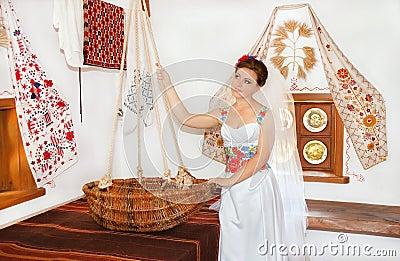 Bride with cradle
