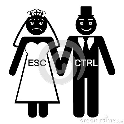 Free Bride ESC Groom CTRL Icon Royalty Free Stock Image - 31763796