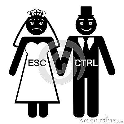 Bride ESC groom CTRL icon