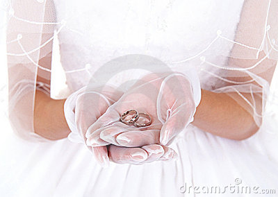 Bride and finger ring
