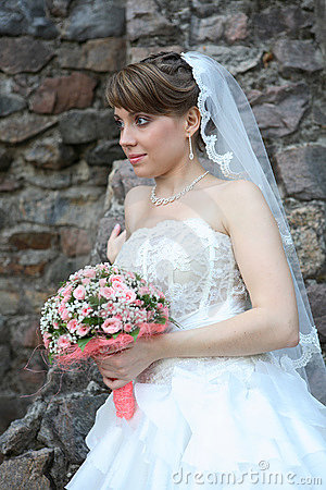 Bride with floral bouquet