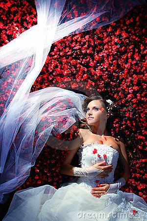 Bride in flowers