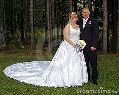 Bride and Groom Formal Portrait
