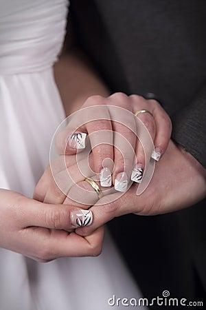 Bride and groom - hands